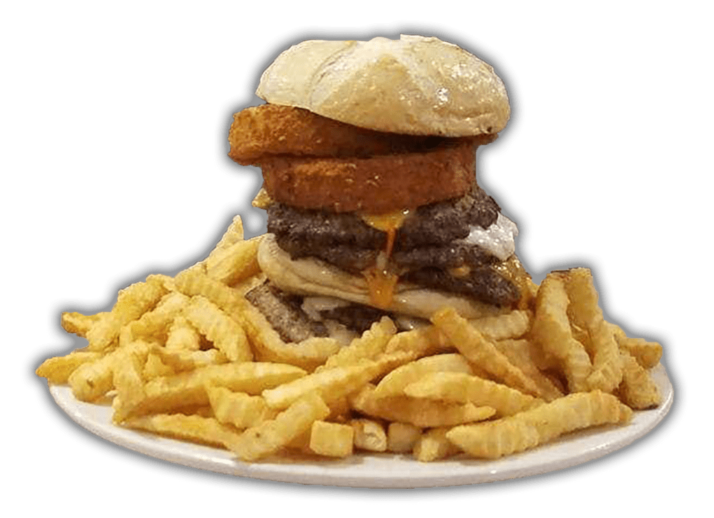 Uncle Louie's Diner - The Challenge Hamburger
